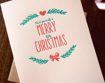 Have yourself a merry little Christmas Letterpress Card