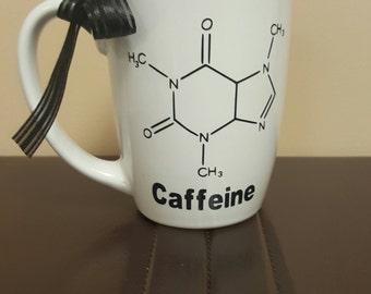Caffeine Molecule - Ceramic 14oz Mug