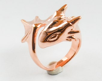 Rose Gold Dragon Ring