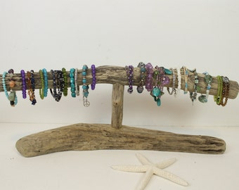 porte bijoux bois flott affichage bracelet bijoux stand regarder l. Black Bedroom Furniture Sets. Home Design Ideas
