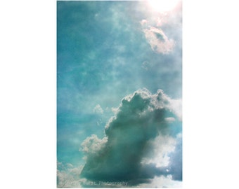 Fine Art Photography, Spiritual Art, Blue Art, Cloud Photography, Sky Photography, Vertical Wall Art, Oversized Print, Presence