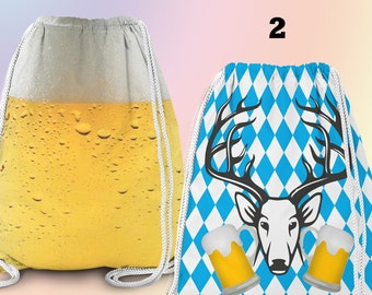 Gym-Bag, Gym Drawstring Bag, Turnbeutel, Sportbeutel, Gymnastikbeutel, Bier/ Oktoberfest