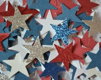 "Star Punches, Star Cut Outs, Scrapbooking, Independence Day, July 4th, Embellishments (3/4"") 