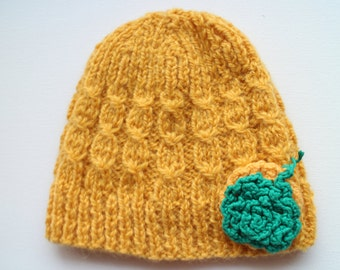 Hand knit wool hat