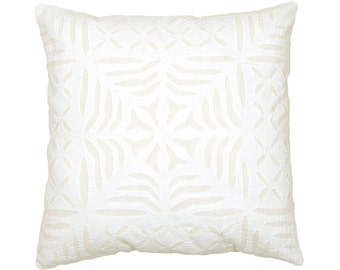 Cushion Cover - White Cotton Backed Applique - Design 4