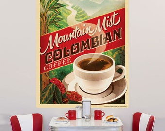 Colombian Coffee Mountain Mist Wall Decal - #55492