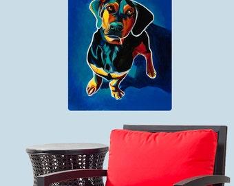 Tyson German Pinscher Dog Wall Decal - #59957