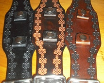Celtic Knot Tooled Leather Watch Bands