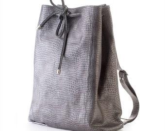 Leather Backpack, Bucket Backpack, Bucket Bag, Office Bag,Leather Bag, Laptop Bag, Leather Tote Bag, Handmade Bag, Women leather backpack,