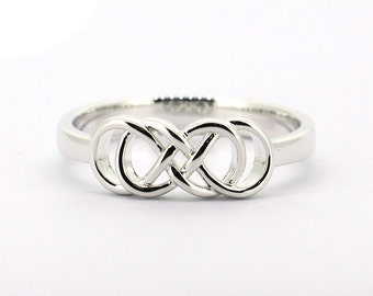 Sterling Silver Infinity  Ring All Sizes