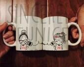 Best Friend Long Distance Coffee Mug SET (TWO MUGS)