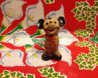 Vintage Mickey Mouse rubber squeeze toy- Dell, 1960s