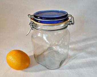Kitchen Storage Jar Glass Storage Jar with Bunny Rabbit Lidded Top