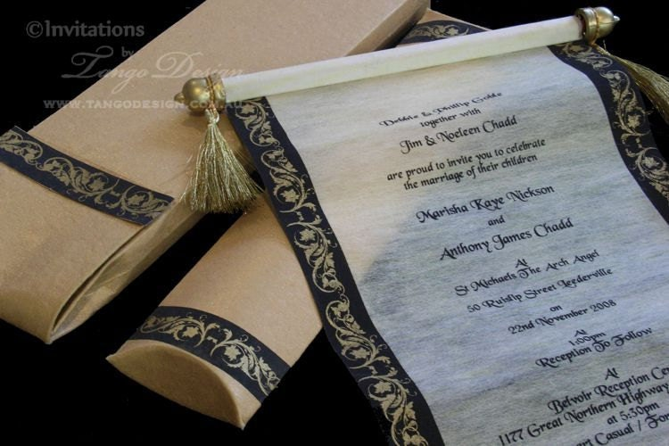 zoom - Medieval Wedding Invitations