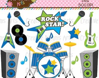 40% Off! Boys Rock Digital Art Instant Download