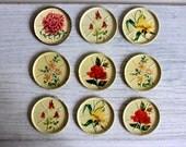 Shabby Metal Flower Coasters : vintage