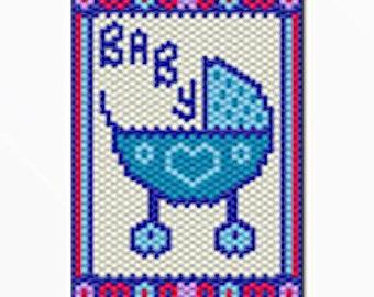 Baby Boy bead banner pattern