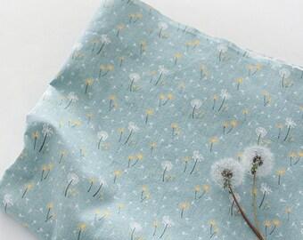 "Dandelion pattern Cotton Fabric dandelion Flower Fabric by the Yard 44"" Wide Cozy dandelion Flower"