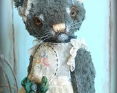 "OOAK artist cat teddy ""Kaitlin Fish"""