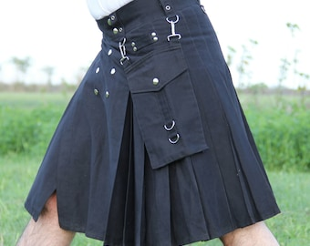 Detachable utility pocket Kilt for Royal Men