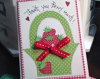 Thank You Greeting Card   Thank You Berry Much