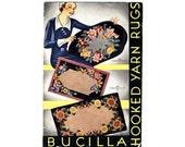 Bucilla 1931 Hooked Yarn Rugs Catalog - Vintage Rug Hooking Kit Brochure - Color Photos - Children's Rugs