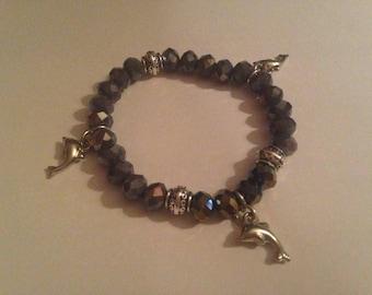 dolphin bracelet glass beads