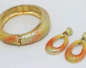 Park Lane gold tone bracelet and clip on earring set