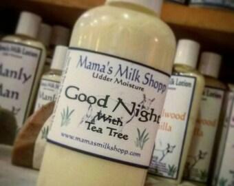 Goat Milk, Good Night, Facial Cream, with, Tea Tree Essential Oils, Melaleuca Oil