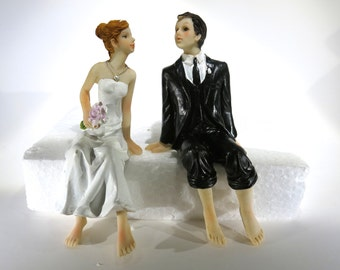 "1pc ""romance"" vintage style wedding cake topper (D18)"