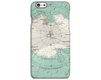 Antique South Pole Map iPhone Case
