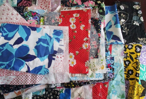 Sewing Room Left Over Cotton Fabric Off Cuts Large Scraps 500g Patchwork Crafts Scrap Booking Applique Dolls Clothes