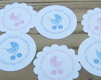 New Baby Return Address Labels