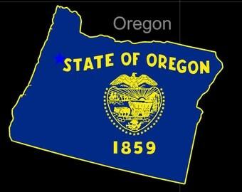 Oregon American State Flag Pride Decal Sticker