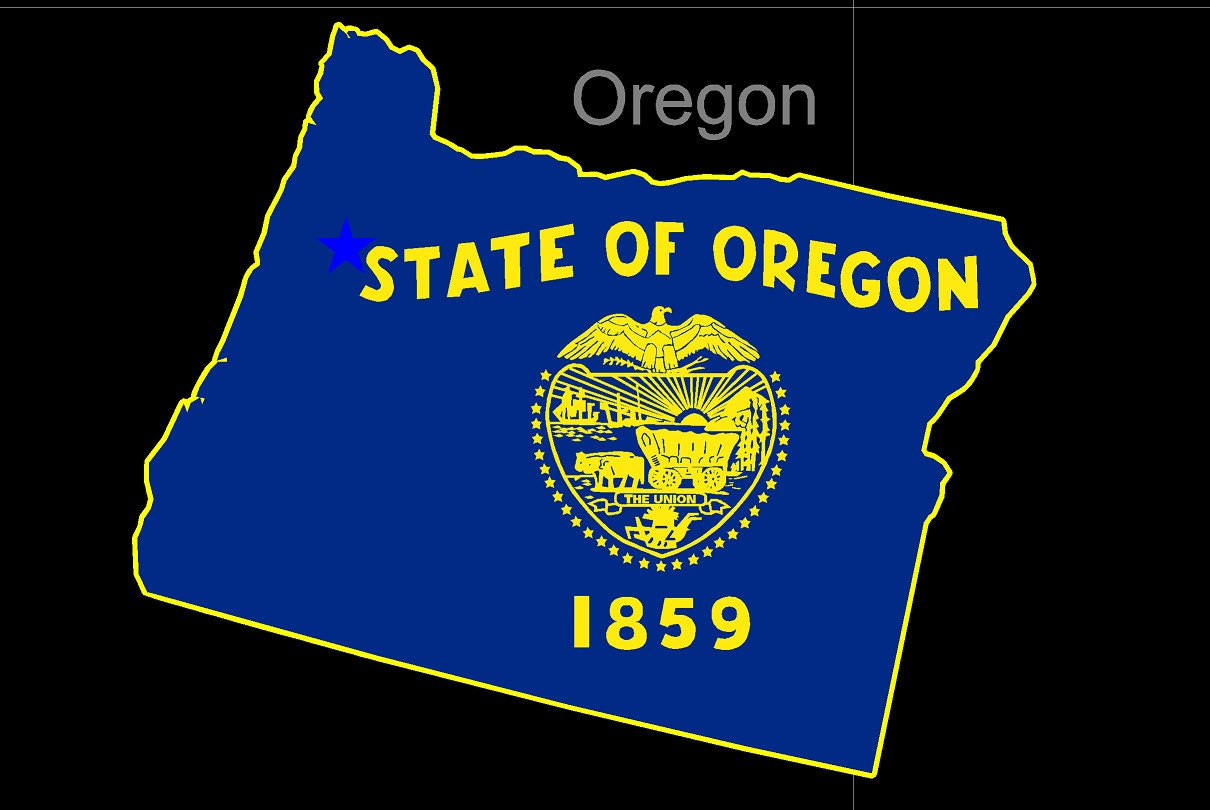 oregon american state flag pride decal sticker. Black Bedroom Furniture Sets. Home Design Ideas