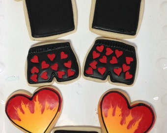 VALENTINE Sugar Cookies for Him