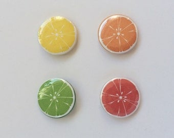 "1"" 25mm Citrus Pinback Buttons"