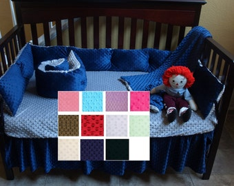 Minky Crib Sheet Soft Minky Dot Crib Sheet