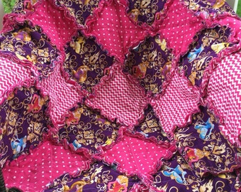 Disney Princess Blanket, Quilt, Cinderella, Rapunzel, Sleeping Beauty, Belle, Personalization Available, Made to Order!
