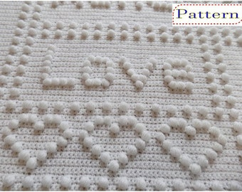 Precious OnePiece Baby Blanket Crochet PATTERN by Peach.Unicorn