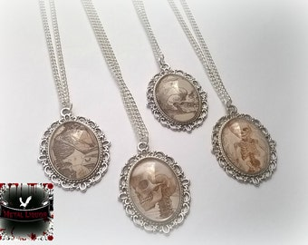 Skull Cameo gothic necklace