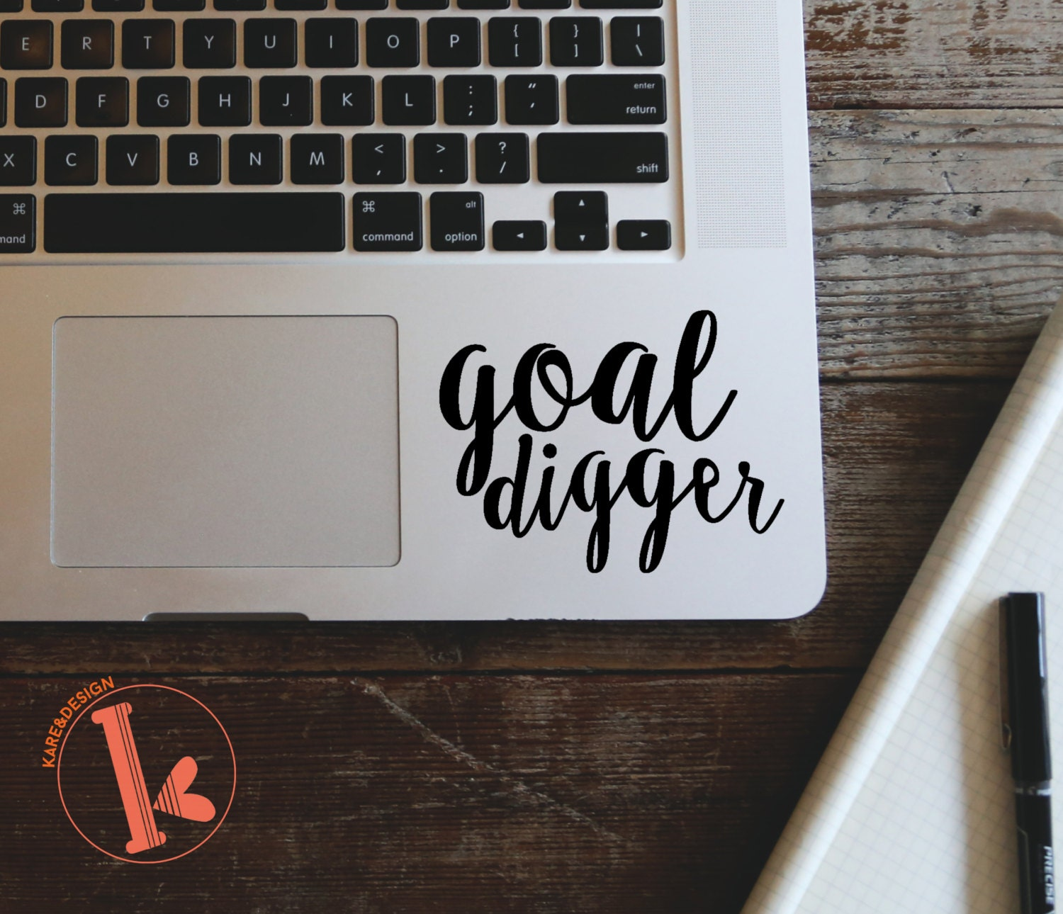 3 Quotes Goal Digger Vinyl Decal Sticker Laptop Stickers
