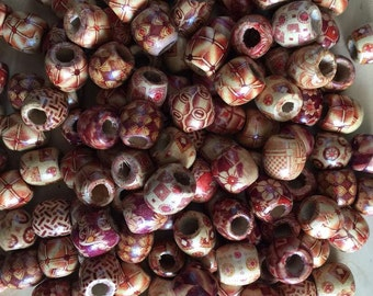 100 PC Dreadlock Beads,wooden Beads