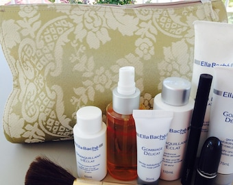 Toiletry Bag, Cosmetic Bag, Wash Bag, Makeup Bag, Toiletry Storage, Shaving Bag - Gold Brocade - The Perfect Travel Accessory!!