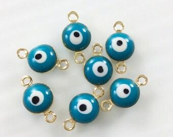 25Pcs Evil Eye Connectors , Eye Connectors, Evil Eye  Bracelet  Diy  Supplies