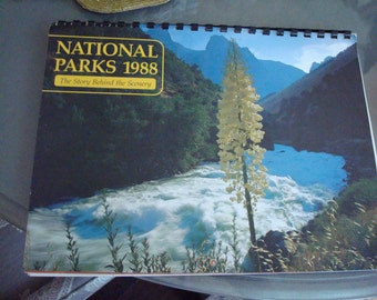 Vintage National Parks Calendar - The Story Behind the Scenery - Unused - Circa 1988 - Stunning Images - Excellent Condition!!
