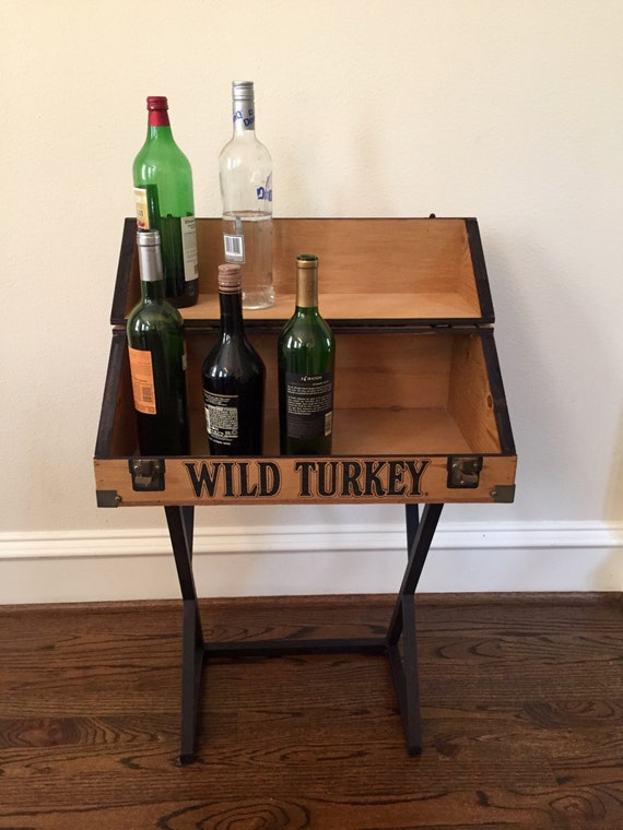 Bourbon Whiskey Accent Mini Bar Table Original Wild Turkey