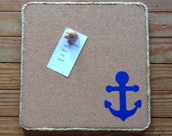 Nautical Cork Memo Pin Board
