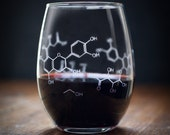 Wine Chemistry Stemless Glass | Perfect nerdy science gift for students teachers boyfriends girlfriends anyone who loves chemistry & wine