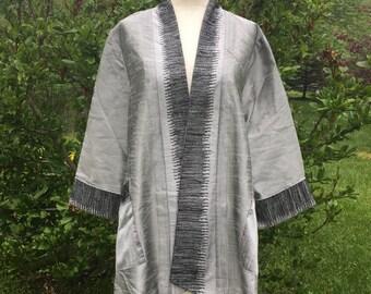 Silk embroidered jacket handmade